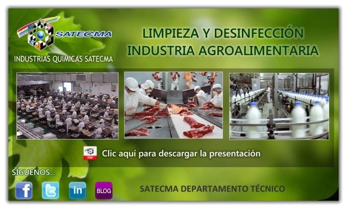 LIMPIEZA Y DESINFECCIÓN INDUSTRIA AGROALIMENTARIA