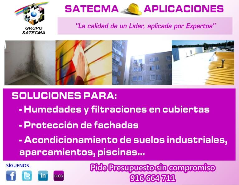 SOLUCIONES PARA: - Humedades y filtraciones en cubiertas - Protección de fachadas - Acondicionamiento de suelos industriales, aparcamientos, piscinas...