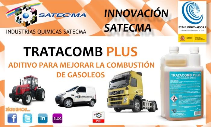 TRATACOMB PLUS es un aditivo de última generación especialmente estudiado para mejorar los procesos de combustión de los gasóleos, en todos aquellos vehículos ligeros, pesados, militares, navales, instalaciones o equipos que emplean este derivado del petróleo como fuente de energía.