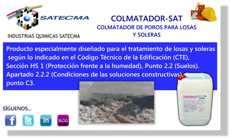Producto especialmente diseñado para el tratamiento de losas y soleras  según lo indicado en el Código Técnico de la Edificación (CTE), Sección HS 1 (Protección frente a la humedad), Punto 2.2 (Suelos).  Apartado 2.2.2 (Condiciones de las soluciones constructivas),   punto C3.