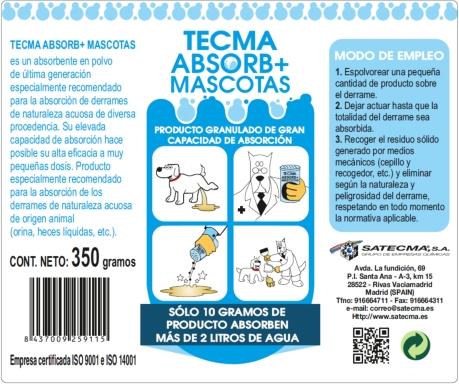 TECMA ABSORB+ MASCOTAS