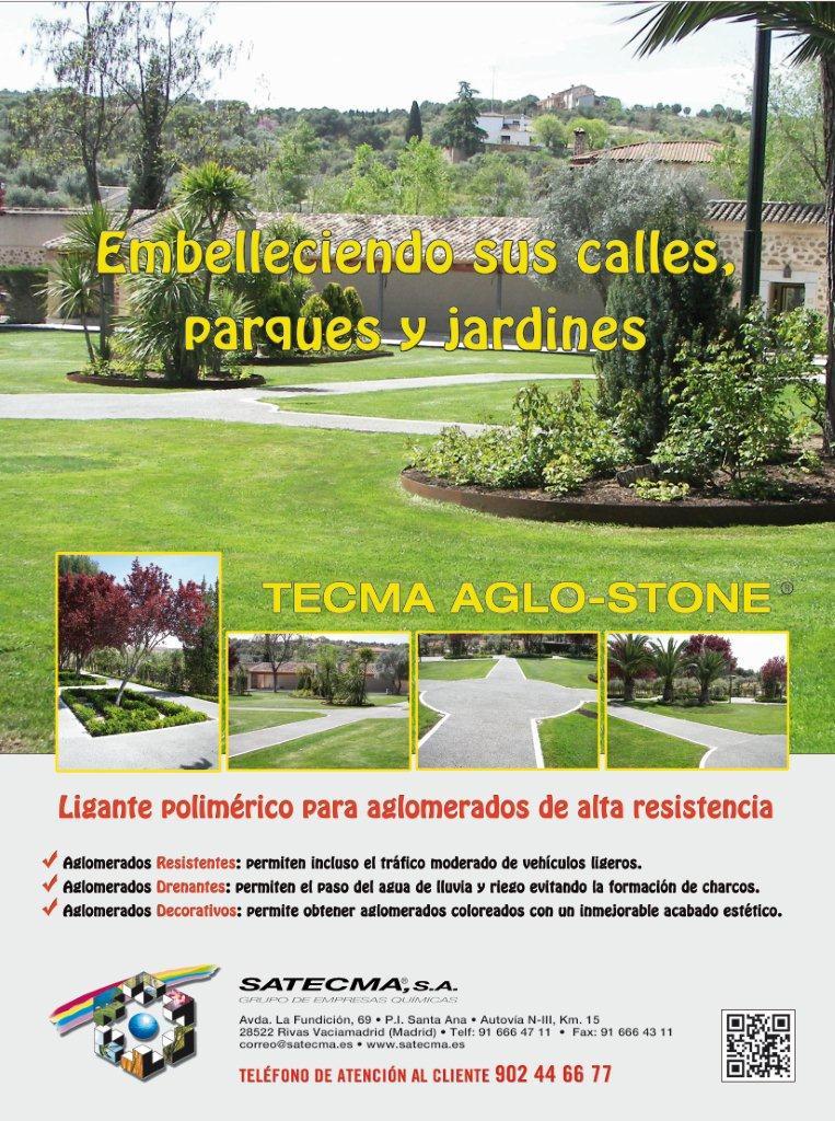 Tecma Aglo-Stone.Embellece calles, parques y jardines.