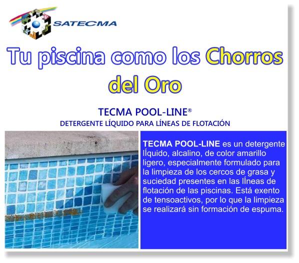 TECMA POOL-LINE DETERGENTE LÍQUIDO PARA LINEAS DE FLOTACIÓN