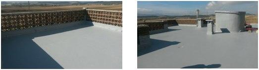 terraza con impermeabilizante e-88 gris