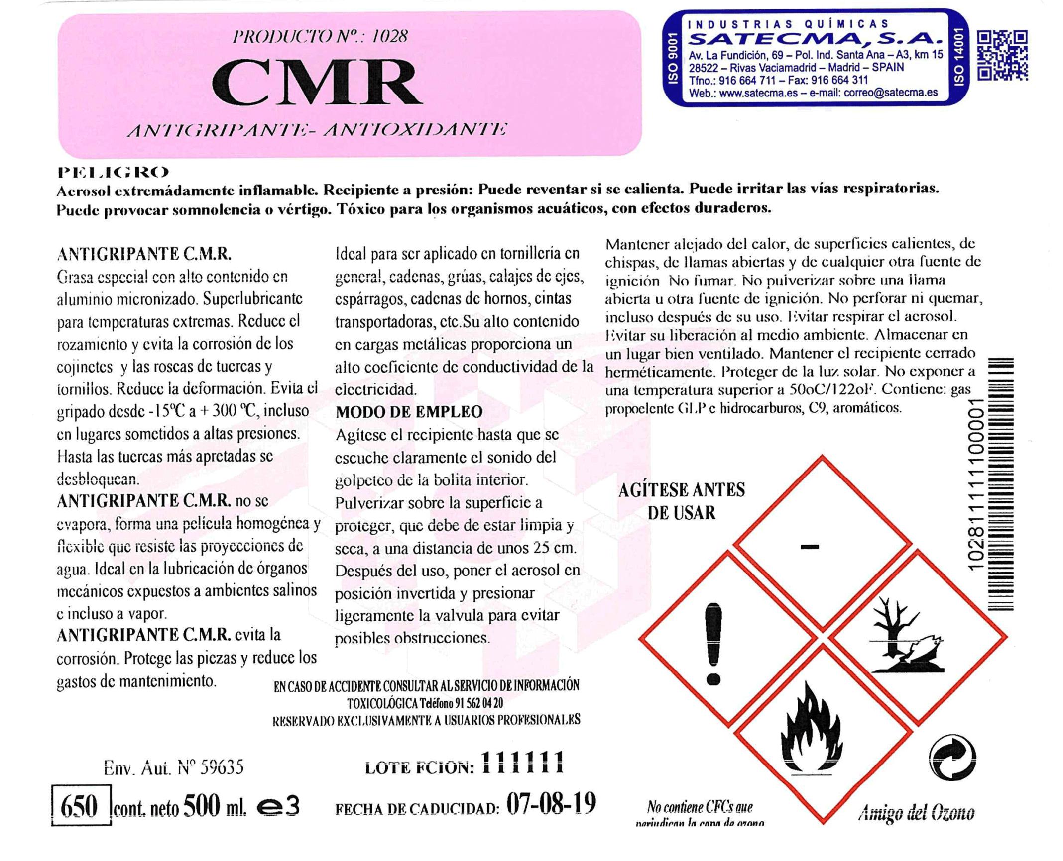 lubricante anti oxidante