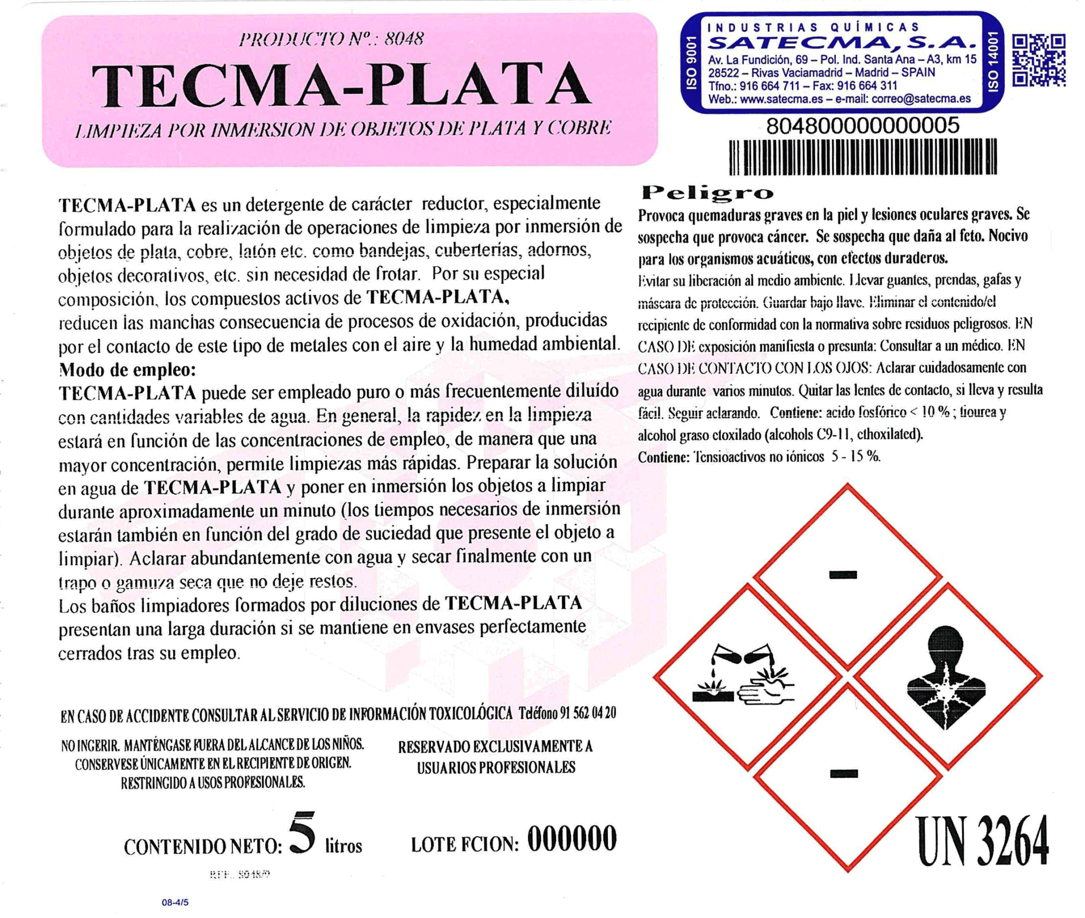etiqueta tecmaplata