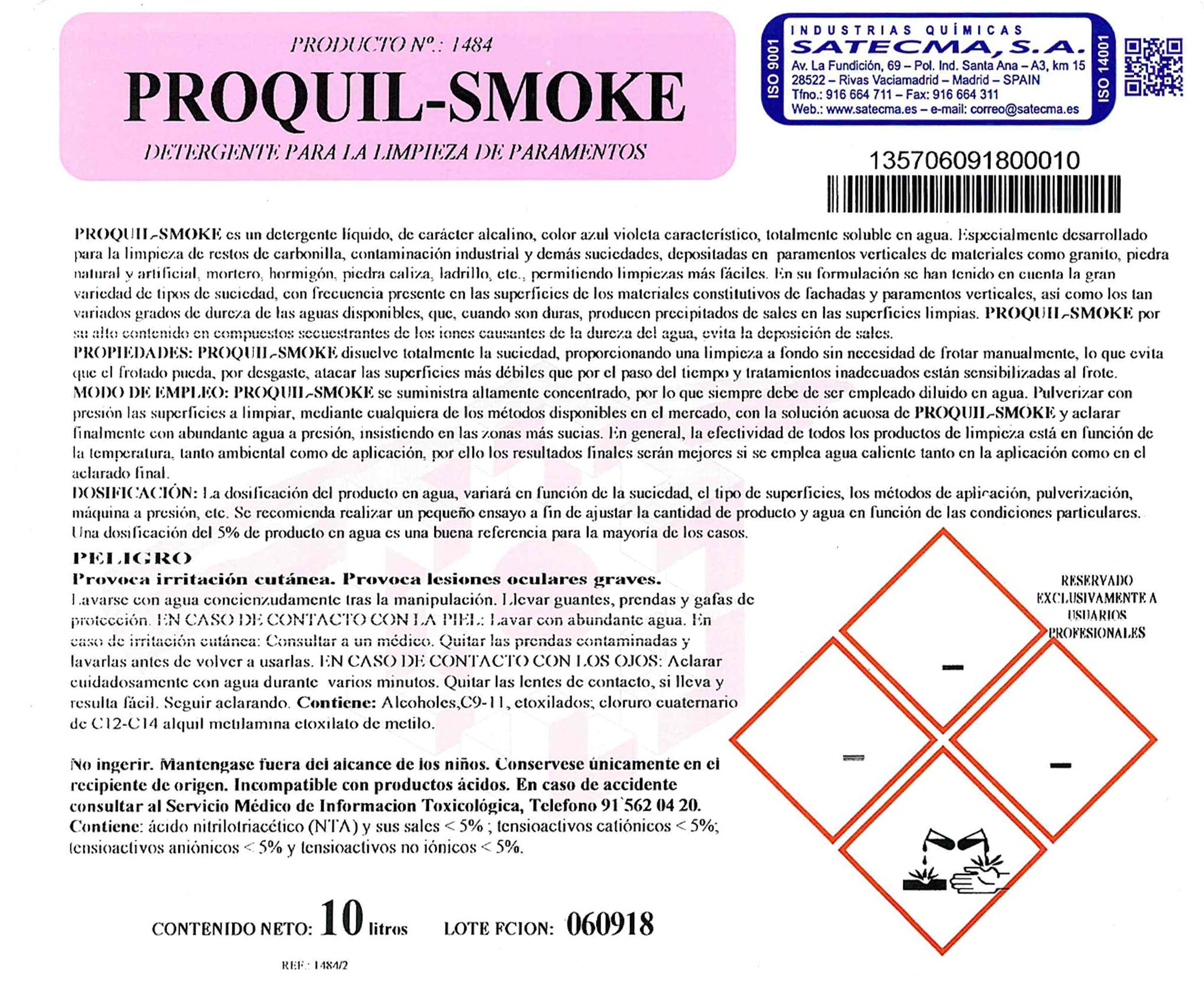 etiqueta proquil smoke