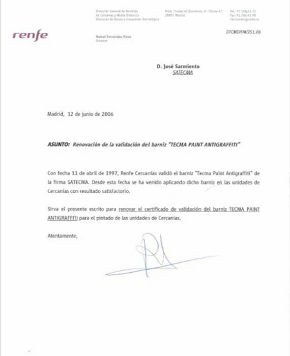 Certificat Renfe