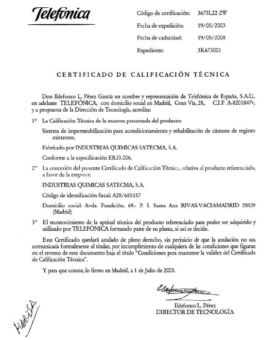 Certification Telefónica