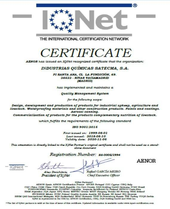 Certification IQNet 2018