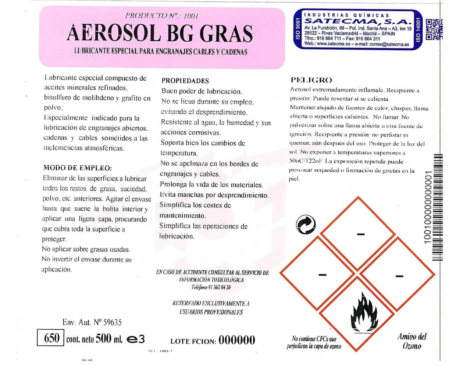 lubricante aerosol
