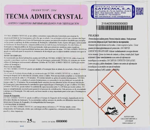 tecma admix crystal etiqueta