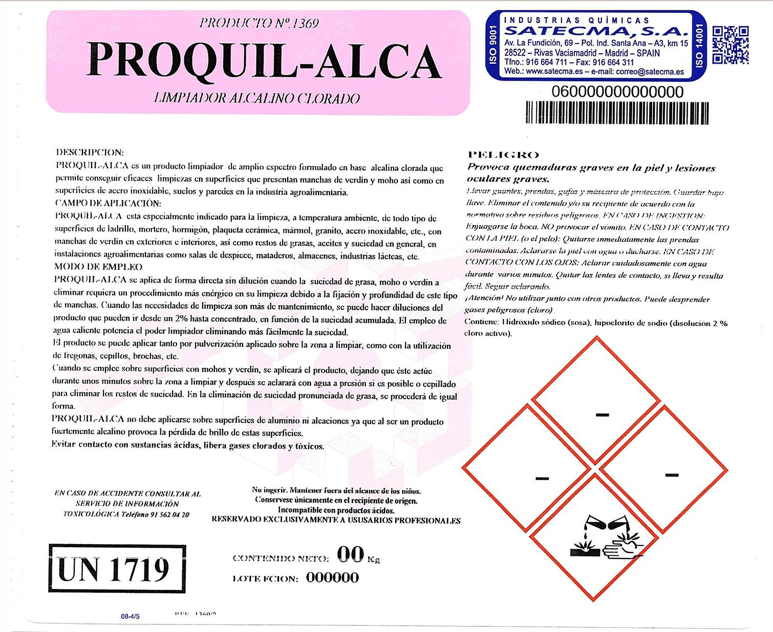 etiqueta limpiador de superficies