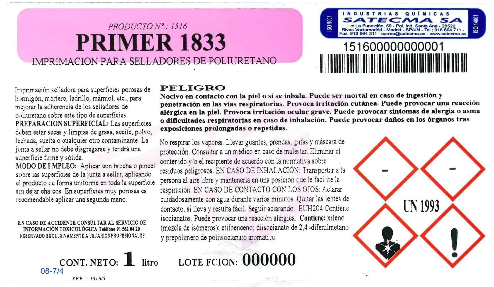 etiqueta imprimación selladores