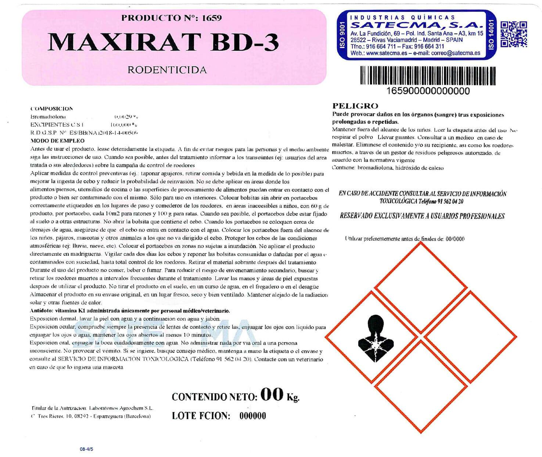etiqueta Maxirat-BD-3