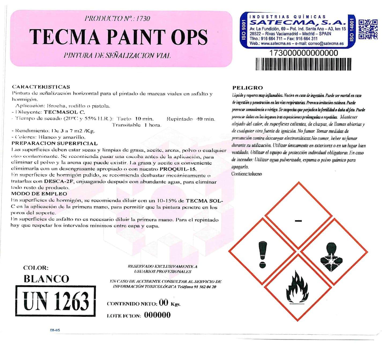 pintura señalización vial etiqueta