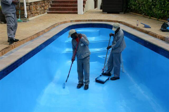 pintando con tecma paint hs azul piscina