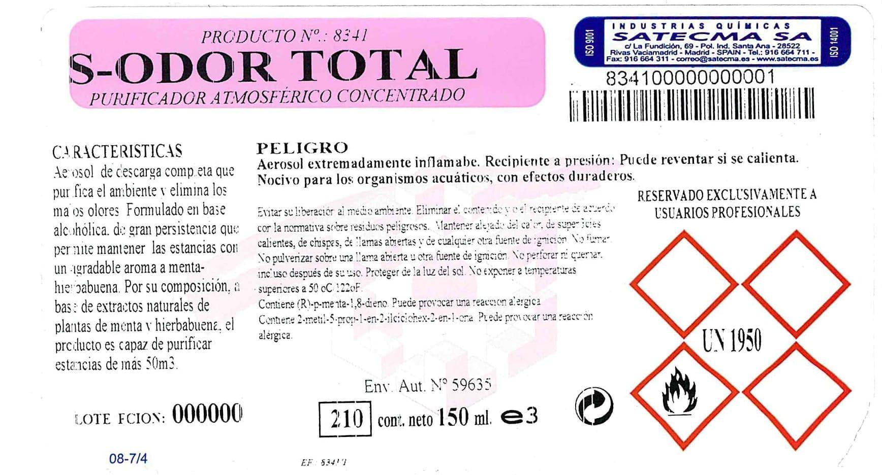 etiqueta purificador aire