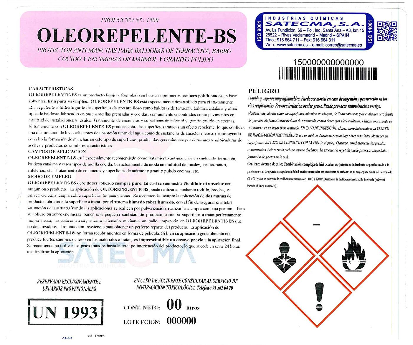 OLEOREPELENTE-BS etiqueta