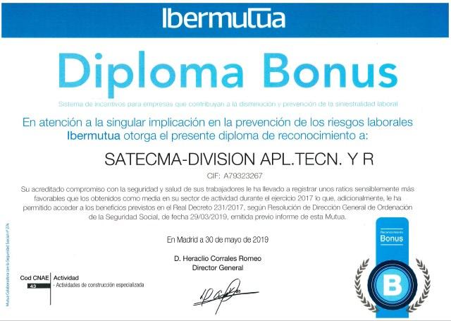 Diplôme Bonus Satecma Aplicaciones