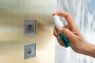 limpieza botones ascensor