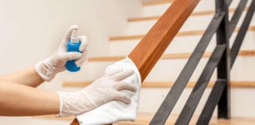 desinfectar barandillas escaleras