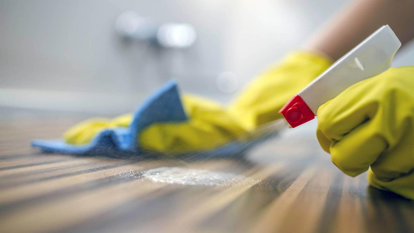 desinfección superficies hogar