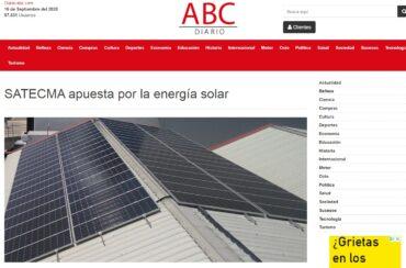 noticia ABC satecma placas solares
