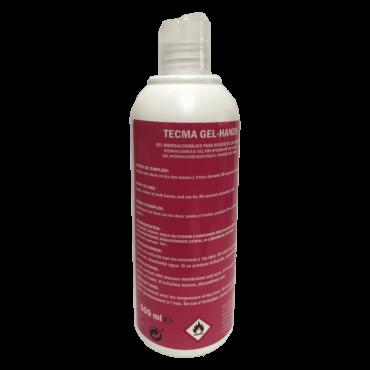 tecma gel-hands 0,5 litros gel hidroalcoholico