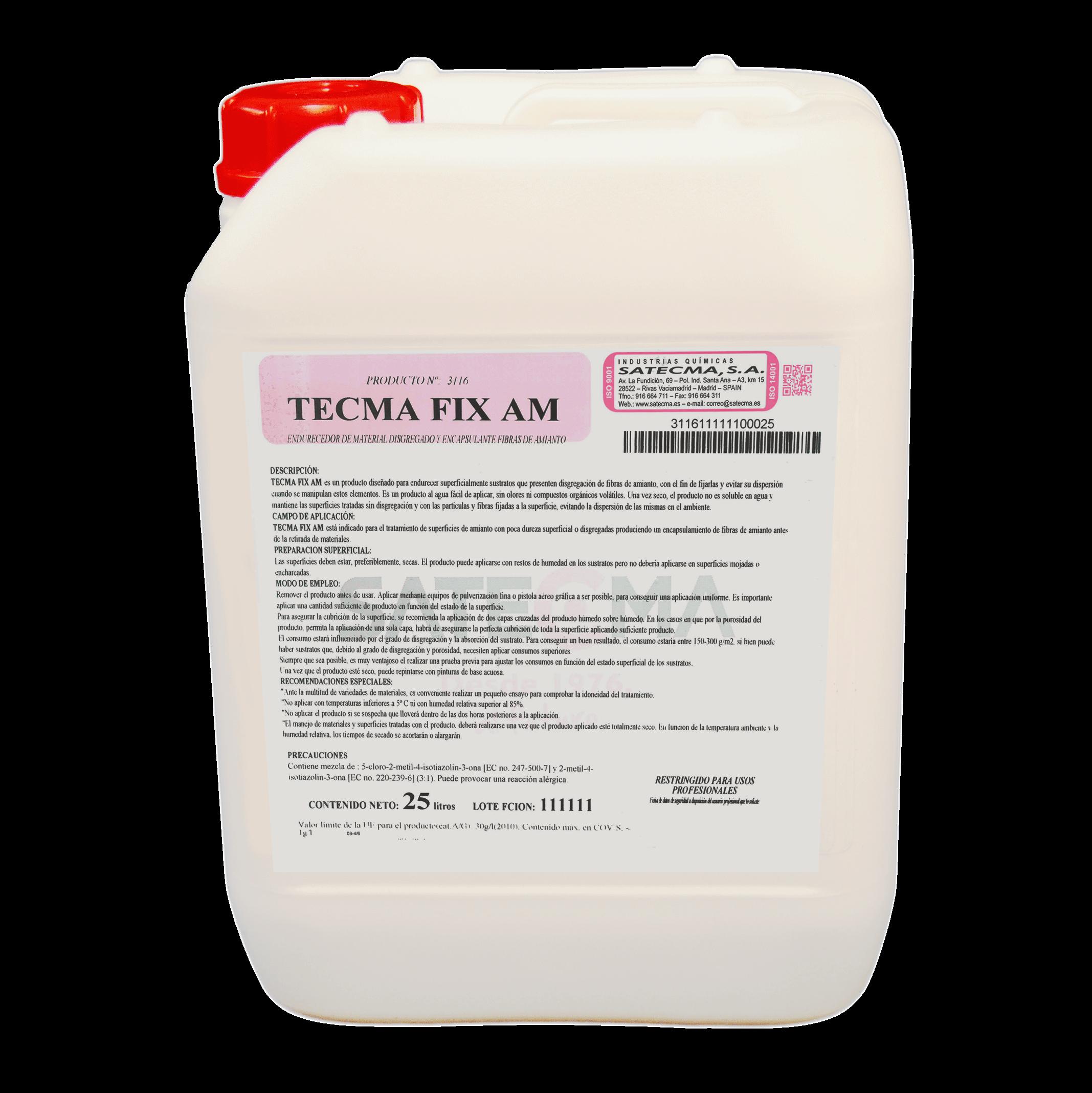 Endurece superficialmente sustratos que presenten disgregación de fibras de amianto