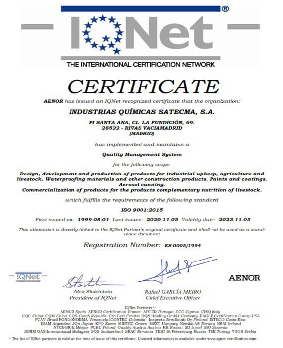 Certification Quality IQNet